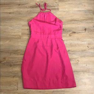Banana republic pink halter dress